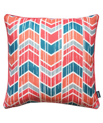 Chevron coral printed cushion