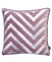 Strata damson velvet printed cushion