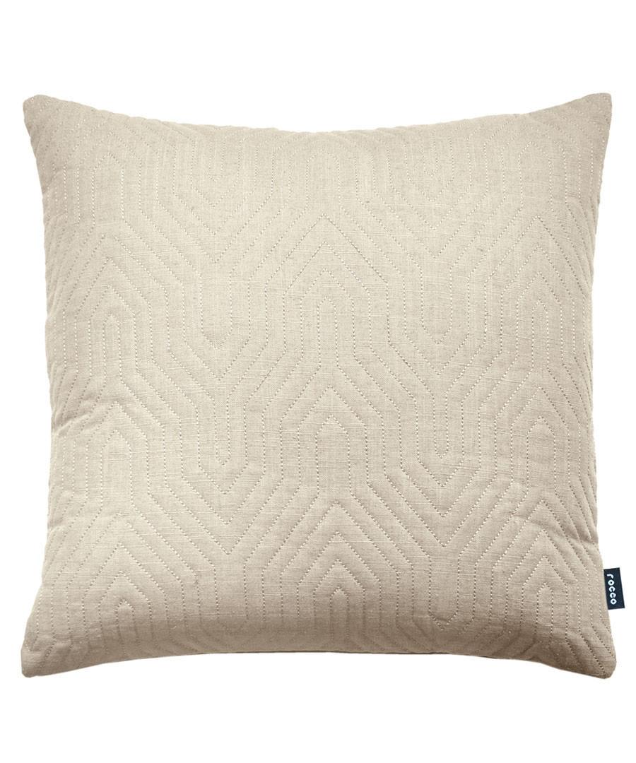 Contour natural linen blend cushion Sale - ROCCO