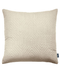 Contour natural linen blend cushion