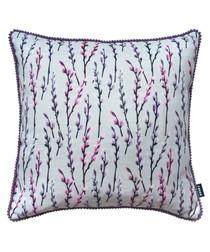 Prairie purple printed cushion
