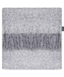 Opulence grey fringe detail throw