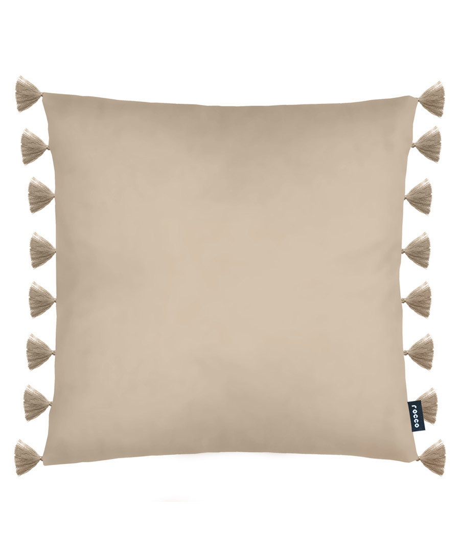 Royal natural velvet tassel cushion Sale - ROCCO