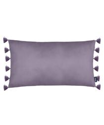Majestic purple velvet tassel cushion