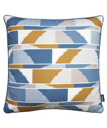 Haze navy printed cushion