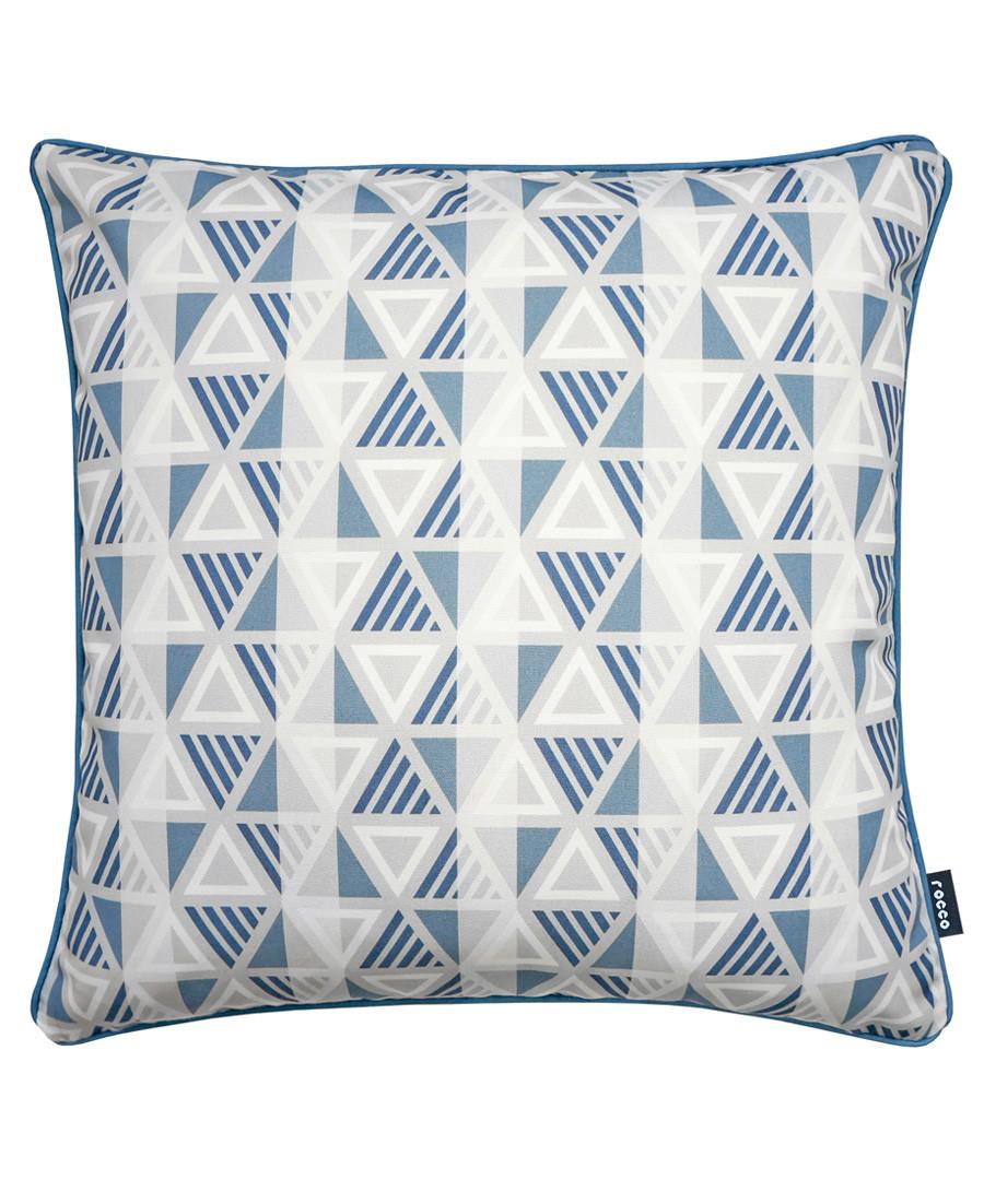 Equinox navy printed cushion Sale - ROCCO