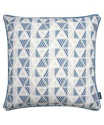 Equinox navy printed cushion
