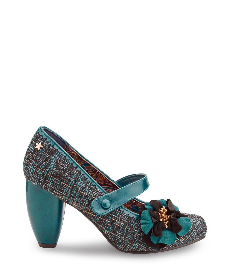 Rosalind Couture teal flower heels Sale - joe browns
