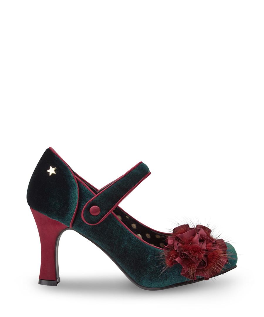 Parade Couture dark green & red heels Sale - joe browns