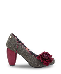 Truly Couture grey & red heels