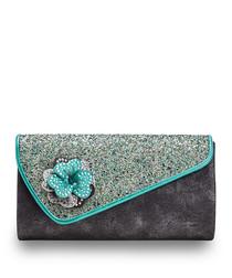 Sassy Bag black & blue clutch