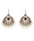 Gayatri ruby & gold-tone earrings Sale - amrita singh Sale