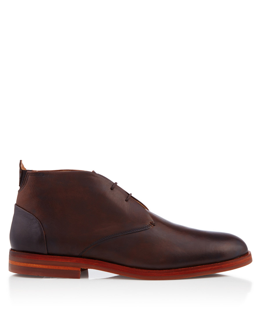 Matteo brown leather lace-up boots Sale - hudson