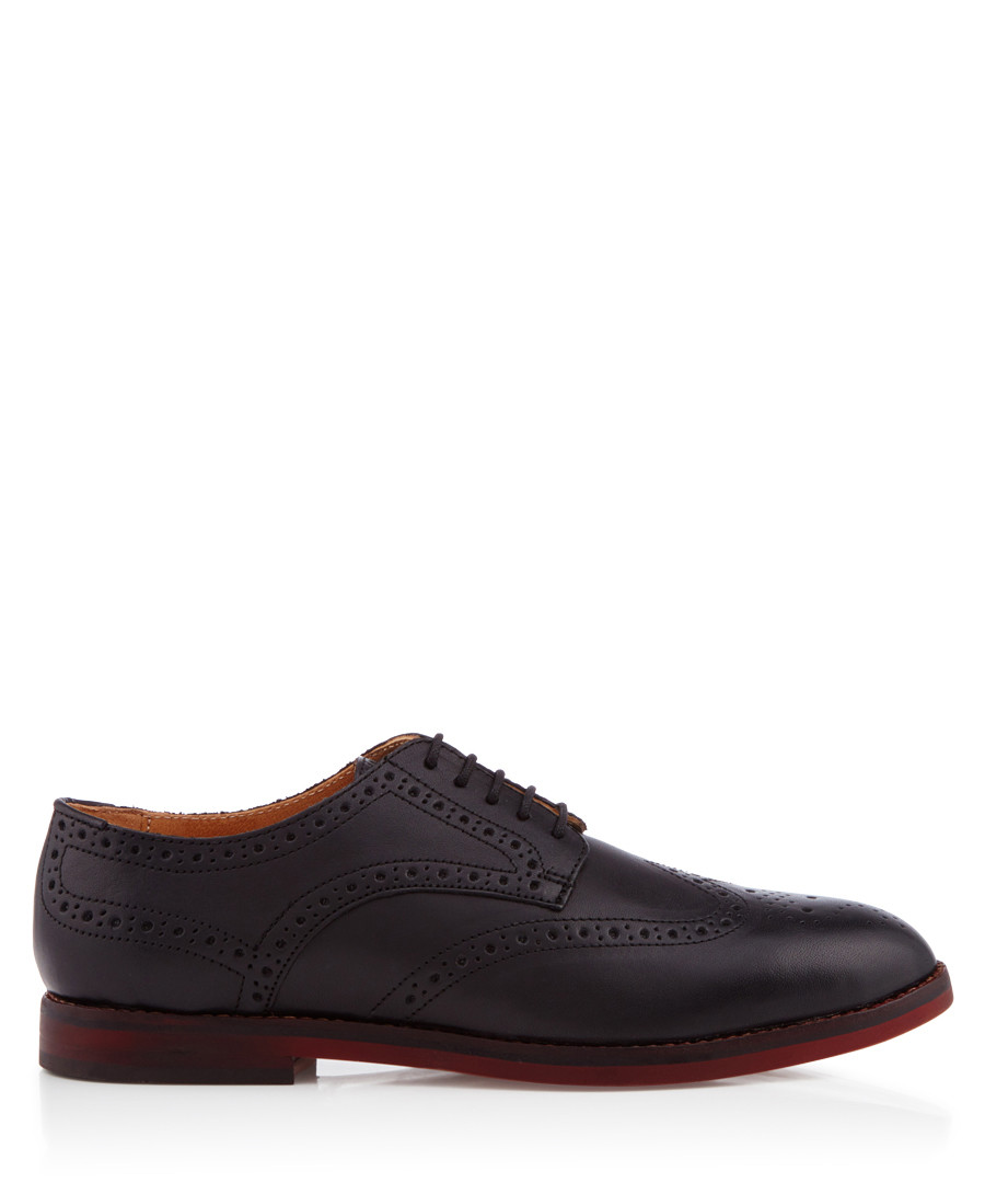 Talbot black leather lace-up shoes Sale - hudson