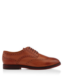 Talbot tan leather lace-up shoes