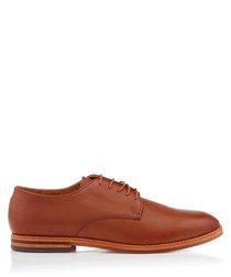 Hadstone tan leather lace-up shoes