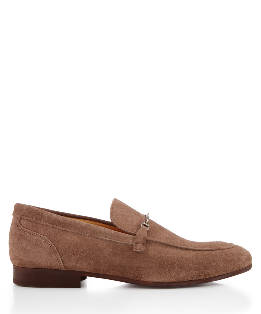 Navarre taupe suede horsebit loafers Sale - Hudson