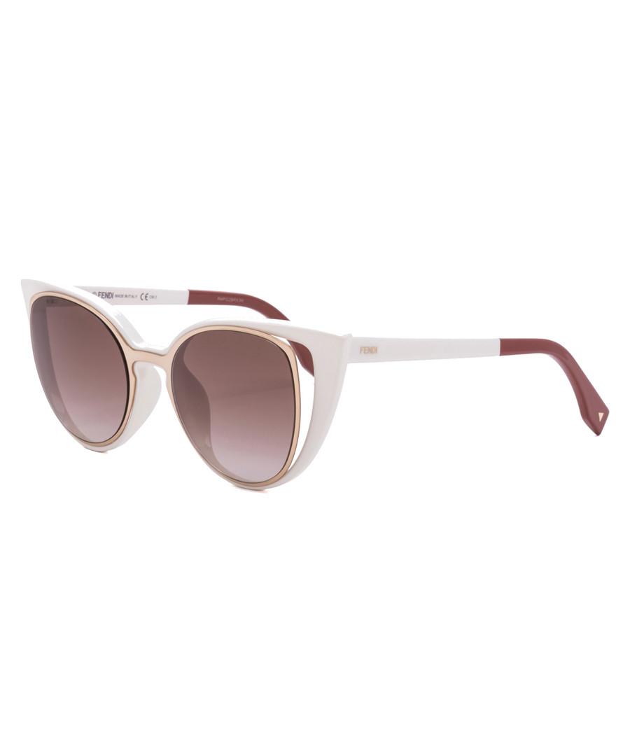 929a0f75 Discount Paradeyes white & gold-tone sunglasses | SECRETSALES