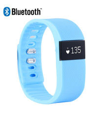 Blue fitness tracker smart bracelet