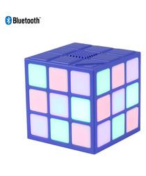 Blue LED Rubiks cube bluetooth speaker