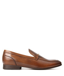 Men's Navarre tan leather loafers