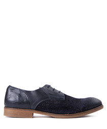 Rogers navy suede two-tone shoes