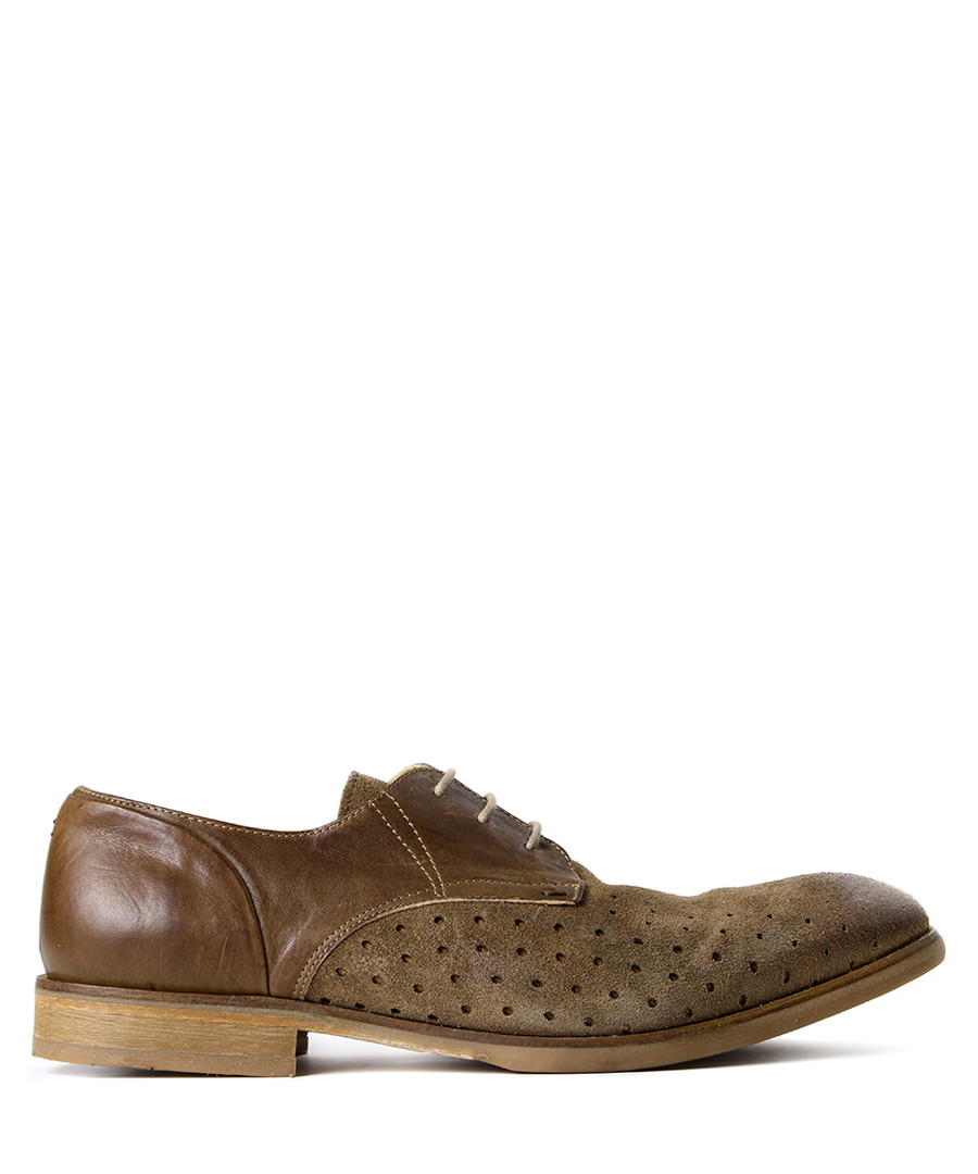 Rogers tobacco suede tonal shoes Sale - hudson