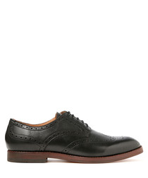 Talbot black leather brogues