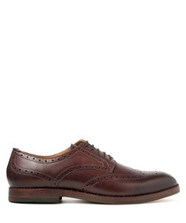 Talbot dark brown leather brogues