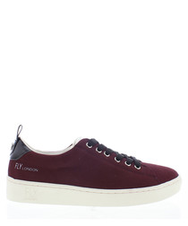 Women's Bordeaux leather sneakers
