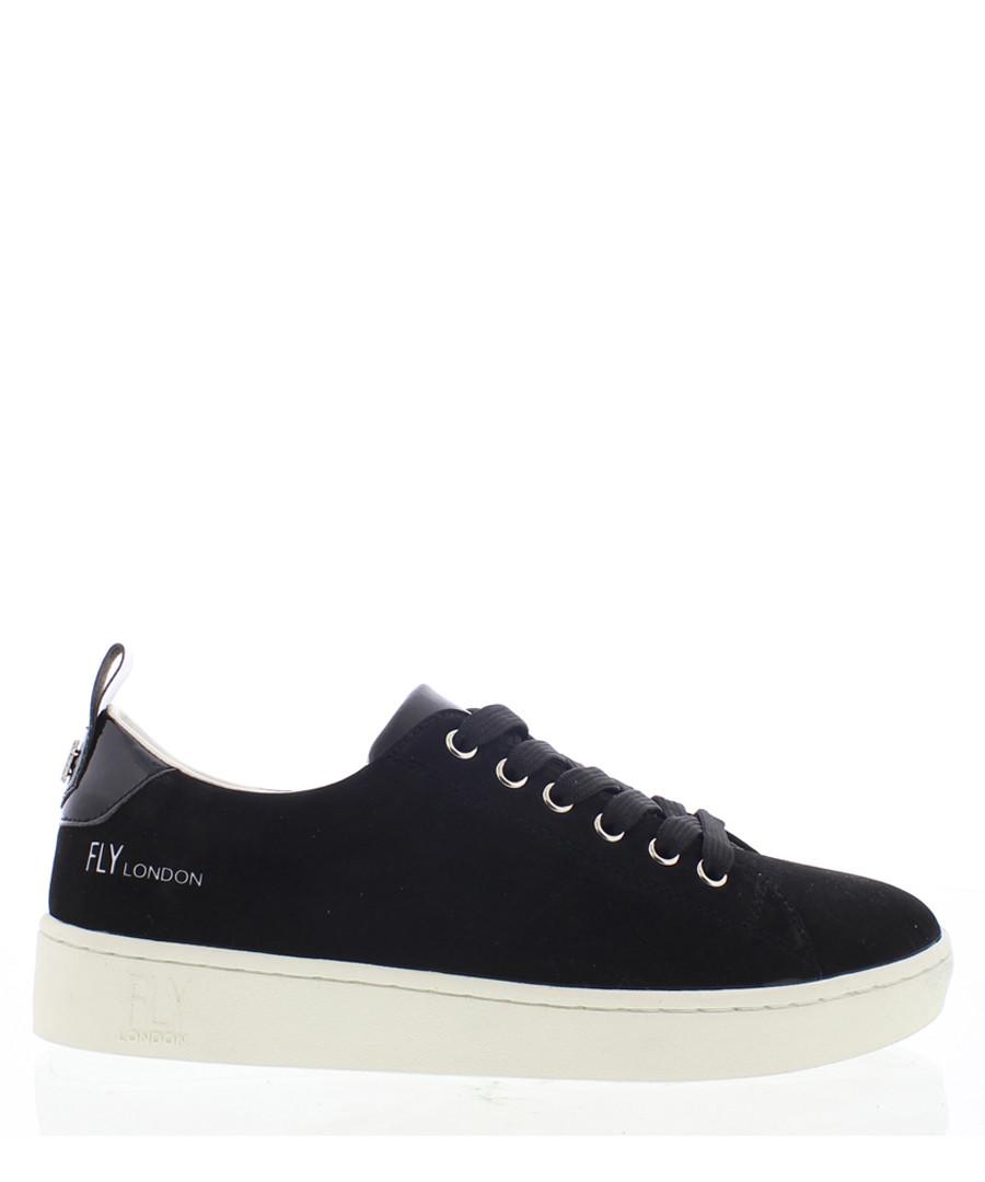 Women's Black leather sneakers Sale - fly london