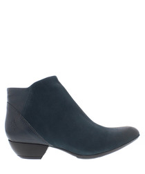 Cupido blue leather ankle boots