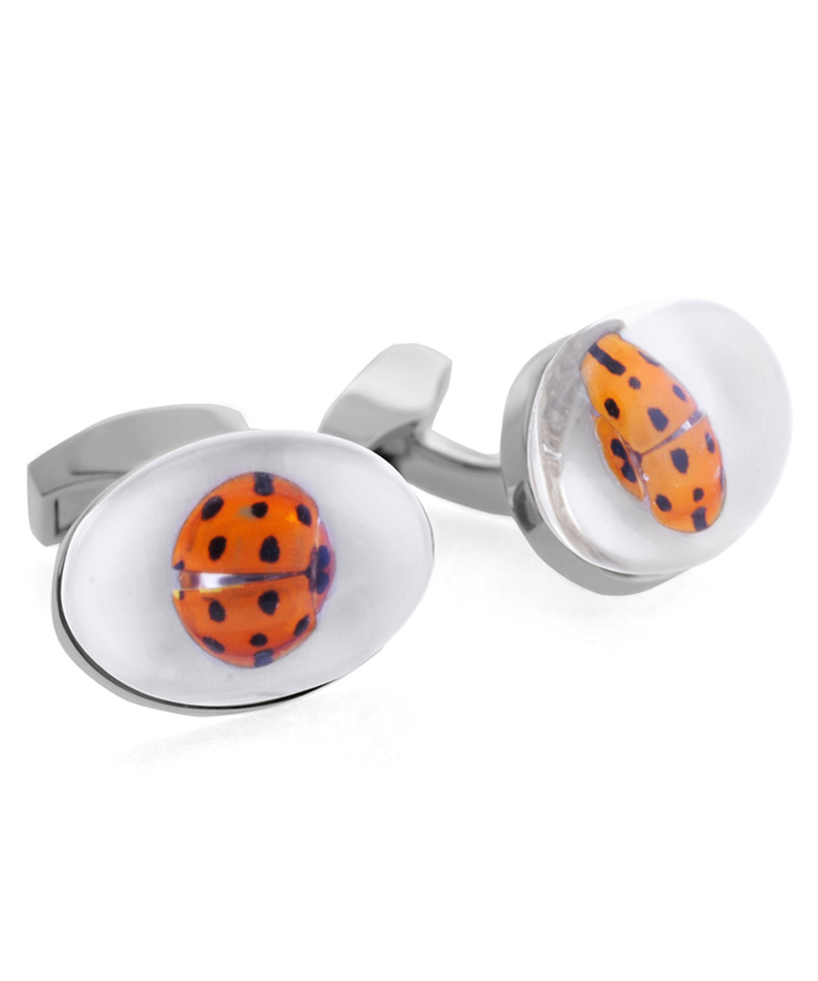 Rhodium-plated ladybird cufflinks Sale - Tateossian London