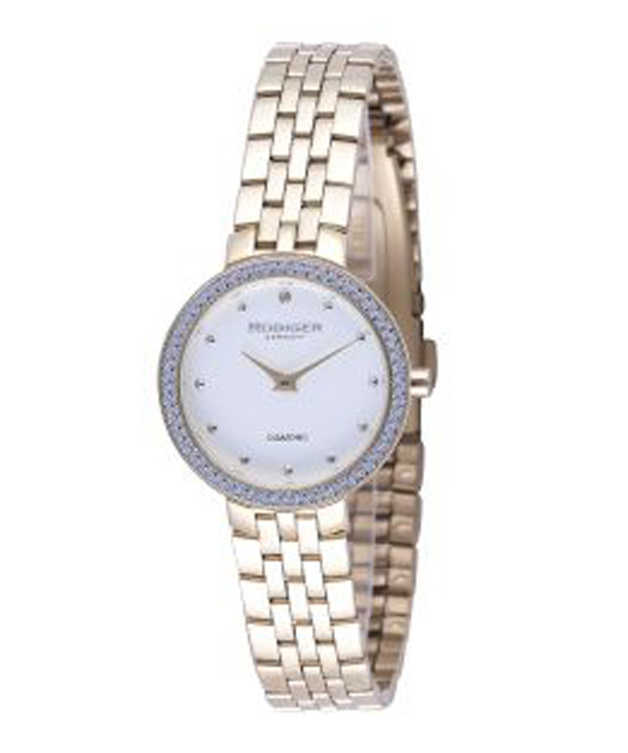 Gold-tone & white watch Sale - rudiger
