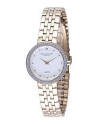 Gold-tone & white watch