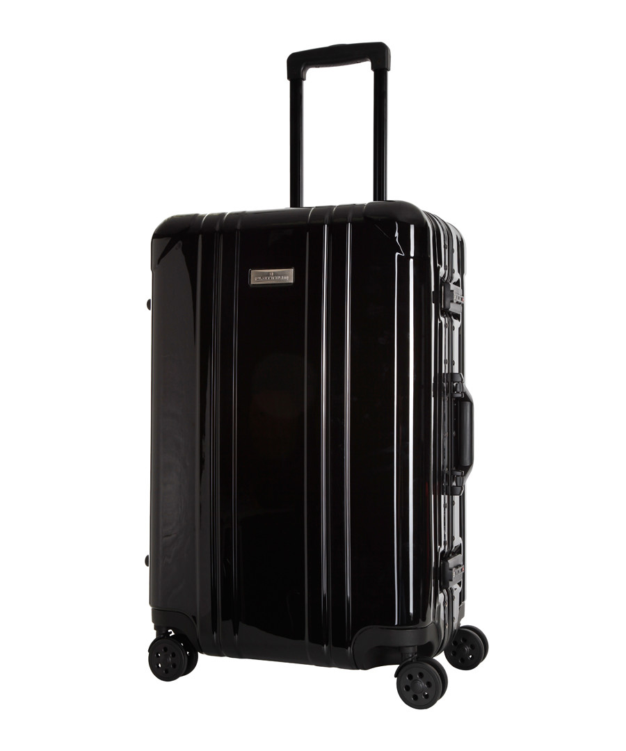 2pc black spinner suitcase set Sale - platinium
