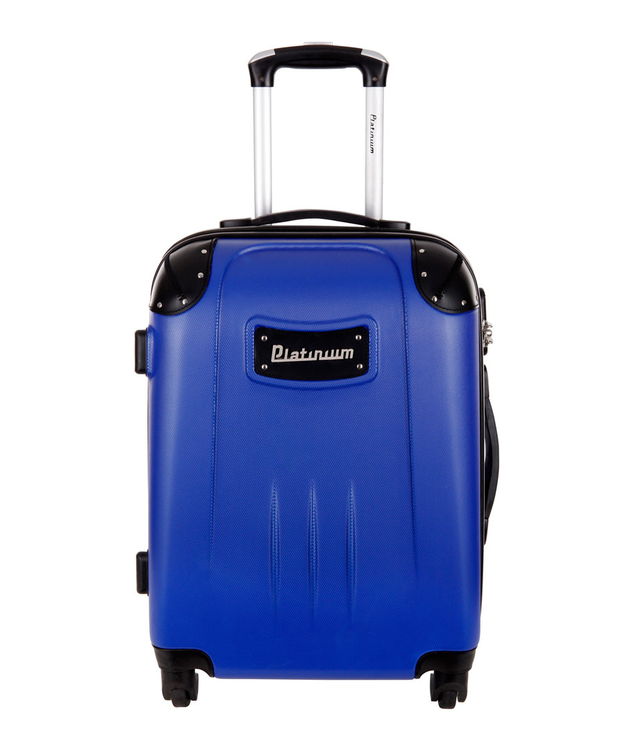 Blue spinner suitcase 50cm Sale - platinium