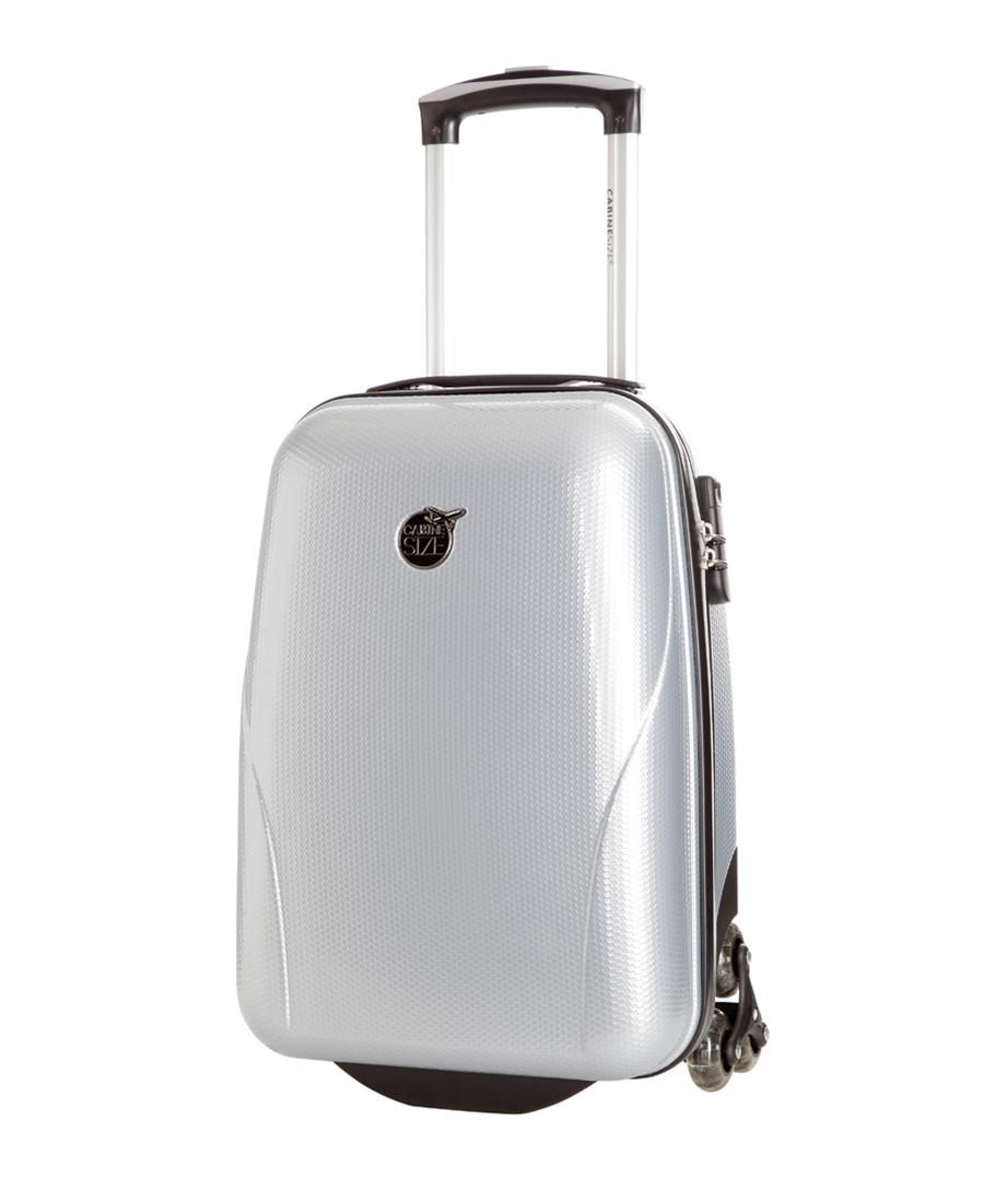 Silver-tone upright suitcase 45cm Sale - cabine size