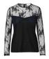 Black cotton blend lace blouse Sale - SAMSOE & SAMSOE Sale