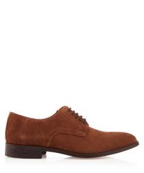 Men's Clarkson brown suede Derby shoes