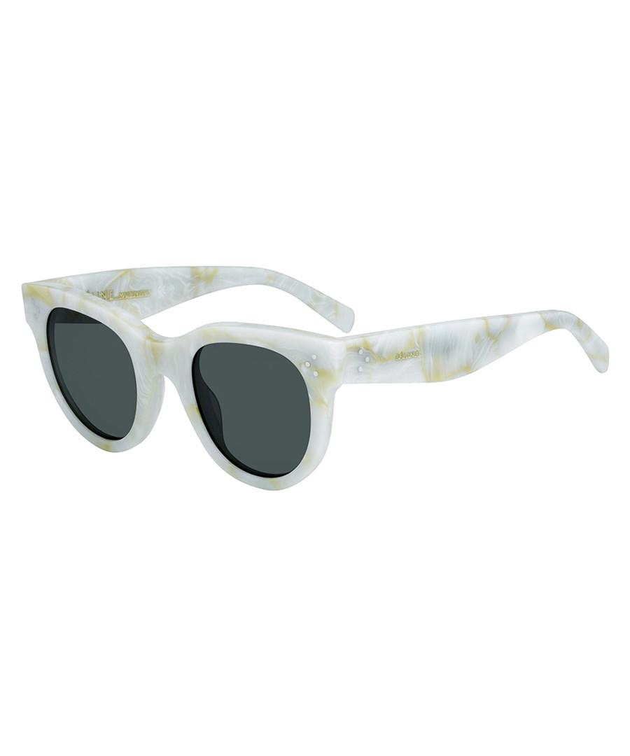 f952a07558795 Baby Audrey white marble sunglasses Sale - celine