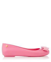 Space pink ballet pumps