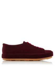 Women's Be Flock berry sneakers