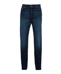 Dark blue pure cotton geno jeans