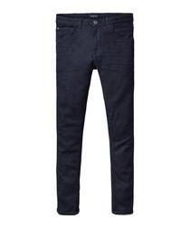 Checkout blue cotton blend jeans
