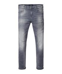 Victory Lap grey cotton blend jeans
