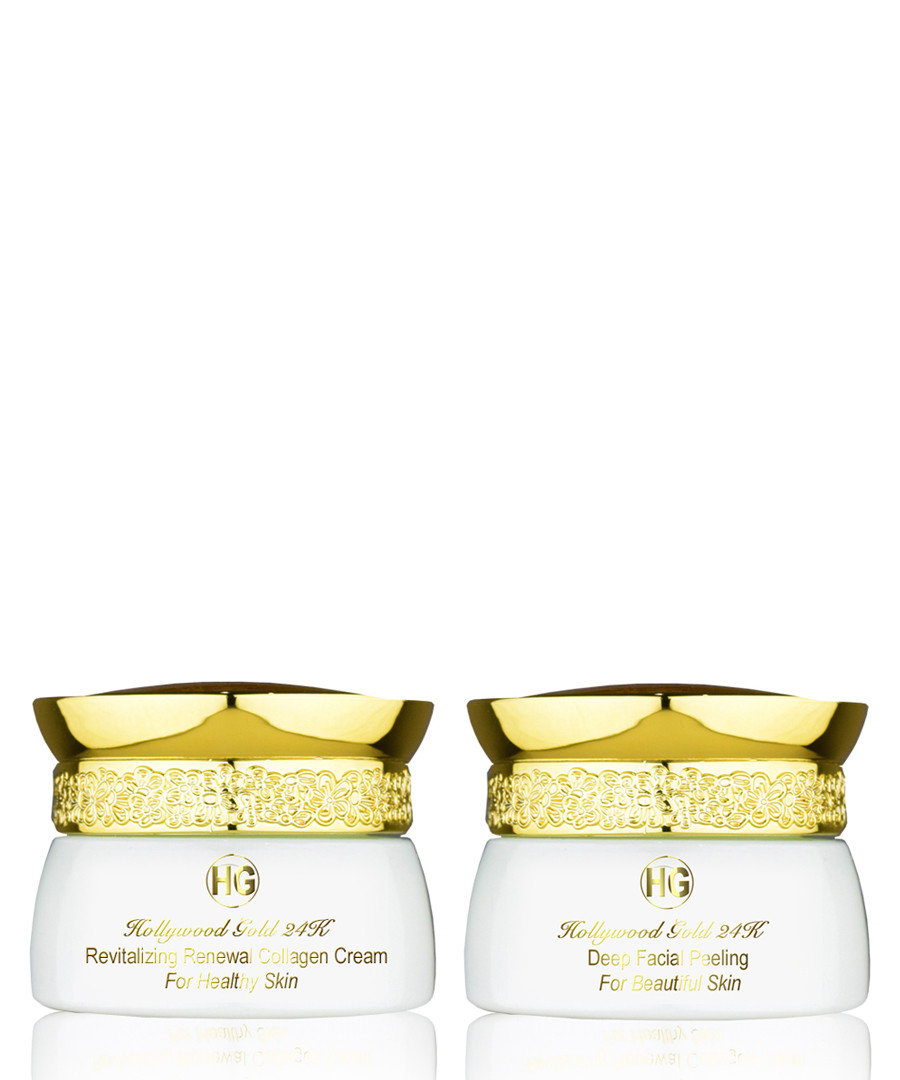 2pc facial peeling & collagen cream set Sale - hollywood gold