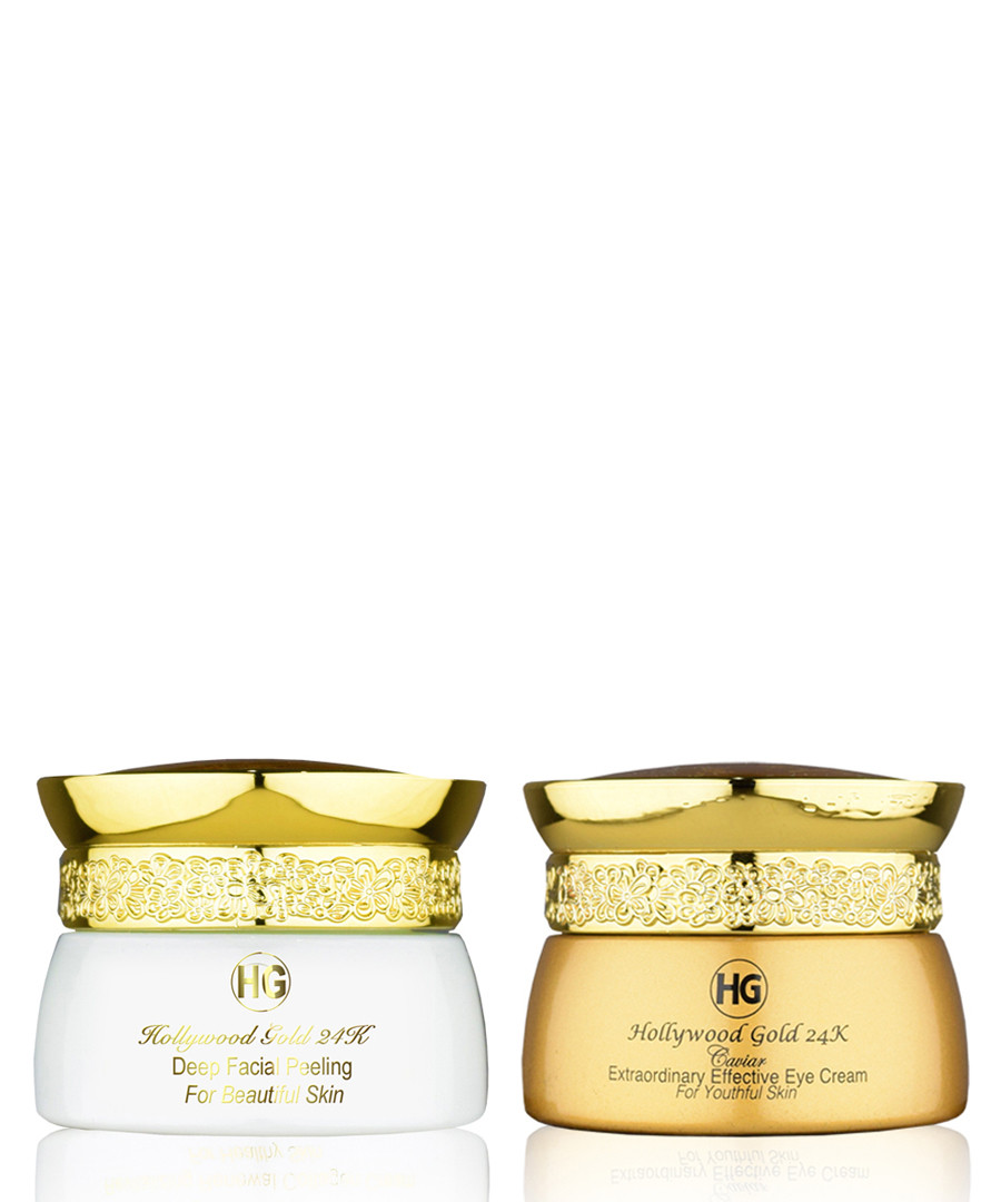 2pc Deep Facial peeling & eye cream set Sale - hollywood gold