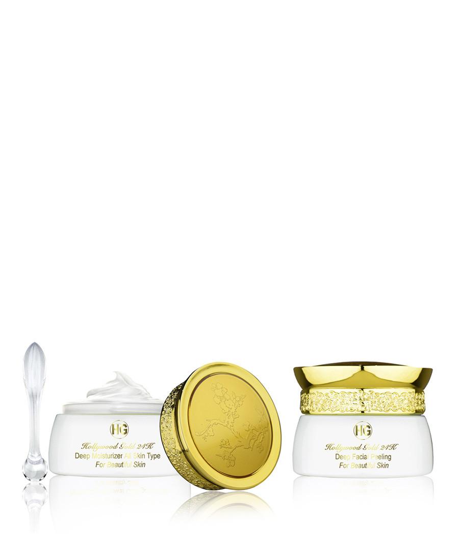 2pc Deep moisturiser & facial peeling Sale - hollywood gold