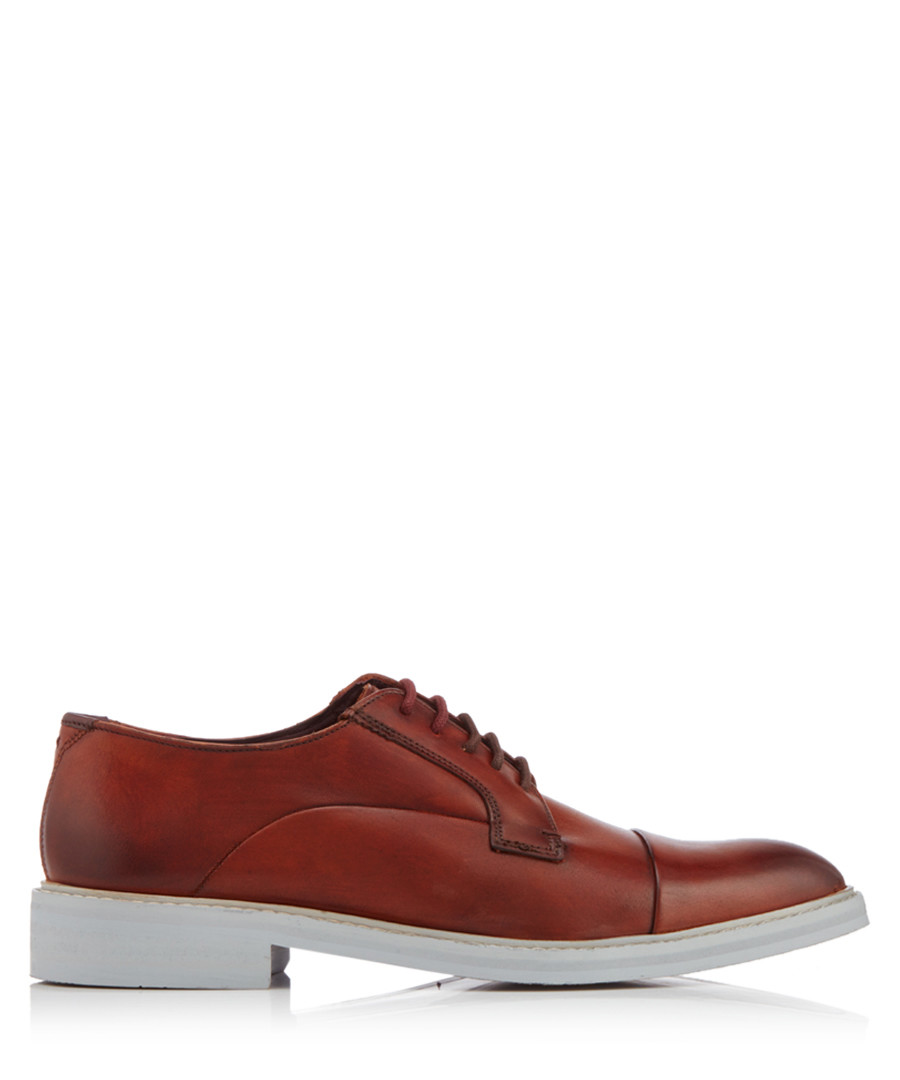 Aokii tan & grey leather shoes Sale - ted baker